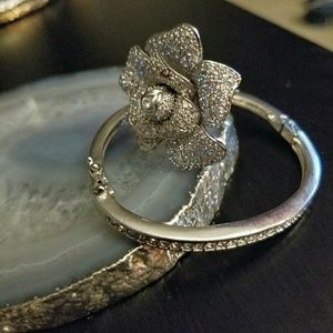 Jewelry - Crystal Encrusted Cocktail Ring & Tennis Bracelet